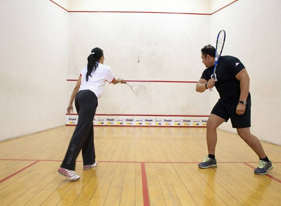 The squash courts