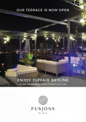 Our terrace is now open. Enjoy the Juffair skyline at our newly renovated Fusions by Tala
