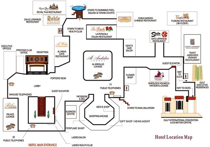 Hotel Location Map Luxury 5 Star Accomodation In Bahrain