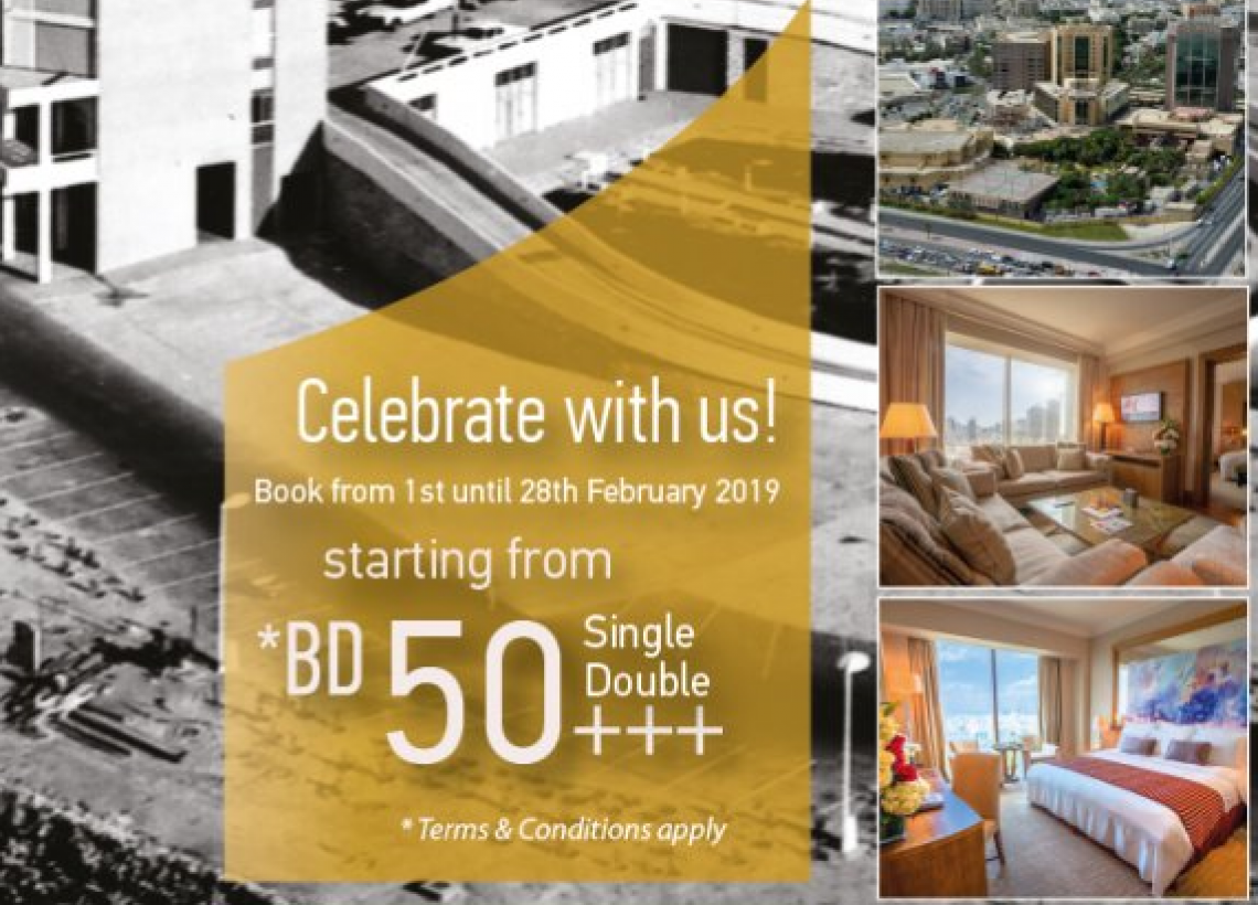 50th Anniversary Special Rate at Gulf Hotel Bahrain